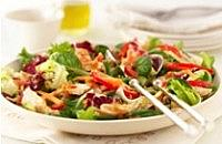 Spicy turkey and pepper salad