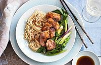 Chinese duck with noodles