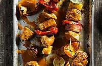 Chicken and sweet potato kebabs