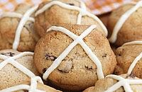 Hot cross cookies