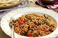 Tomato and mushroom rice