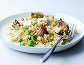 Broad bean & shallot couscous