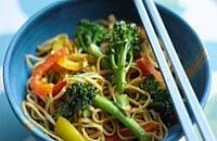 Vegetarian peanut noodles