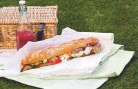 Roast vegetable picnic loaf