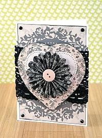 Midnight Blush Heart Card