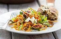 Sweet potato, fig & feta salad