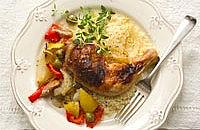 Lemon and olive baked chicken