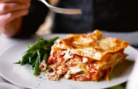 Crab and cod lasagne