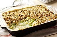Leek and Cheddar crumble