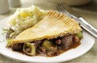 Leek and venison pie