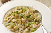 Smoked haddock and leek stew