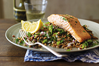 Grilled-Salmon-with-Mixed-Grain-Salad