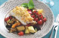 Crunchy-topped cod