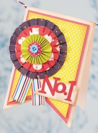 No.1 Rosette Card
