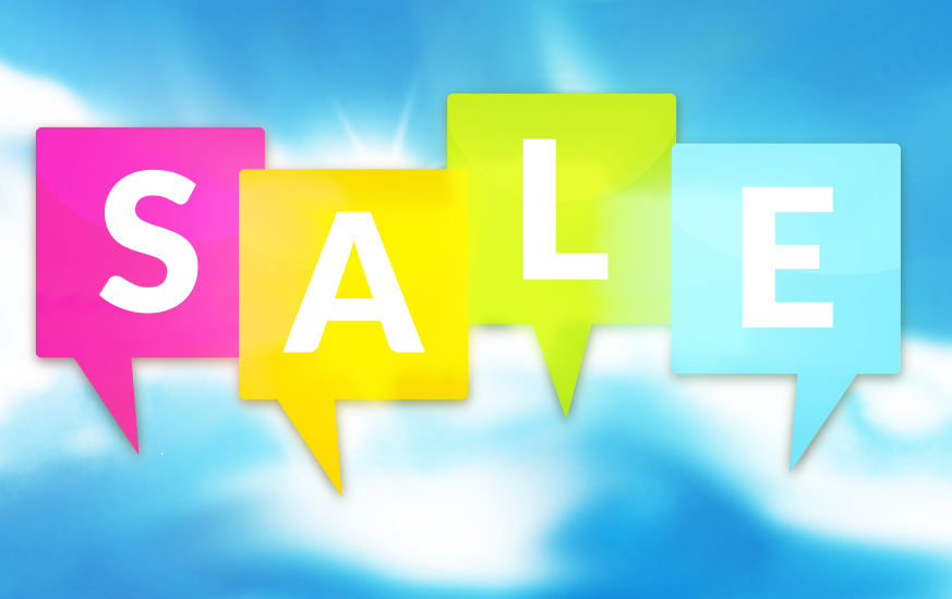 Sale icons modern color