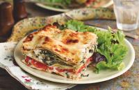 Shiitake mushroom and spinach lasagne