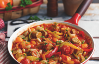 Spanish sausage and bean stew