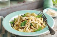 Spaghetti with artichoke