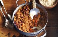 Chilli con carne with chocolate