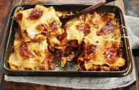 Lasagne with chorizo