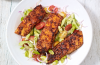 Cajun-spiced salmon