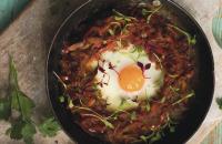 Shakshuka with baked eggs