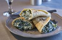 Savoury spinach and ricotta pancakes