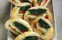 Mediterranean spinach-filled rolls