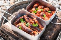 Billycan sausage stew
