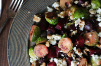 Honey-glazed Brussels sprouts