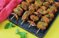 Moroccan Welsh lamb skewers