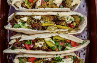 Homemade Falafel Pittas