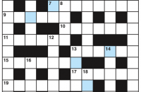 Cryptic crossword August 2017