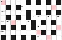 Quick crossword August 2017