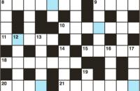 Cryptic crossword January 2018