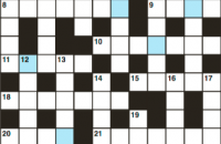 Cryptic crossword September 2018