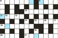 Cryptic crossword November 2018