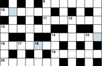 Cryptic crossword July 2019