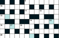 Cryptic crossword September 2019