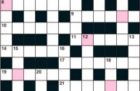 Quick crossword August 2019