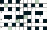 Cryptic crossword October 2019