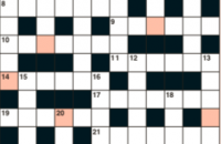 Quick crossword December 2019