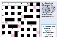 Quick crossword January 2020