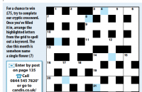 Cryptic Crossword March 2020