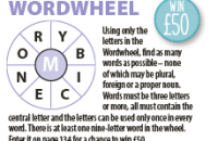 Wordwheel April 2020