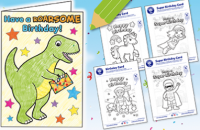 Birthday card fun for kids