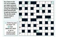 Cryptic Crossword August 2020