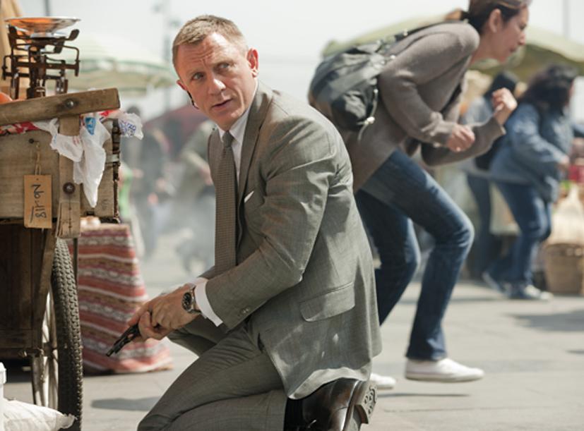 Daniel Craig stars as superspy James Bond in the film Skyfall