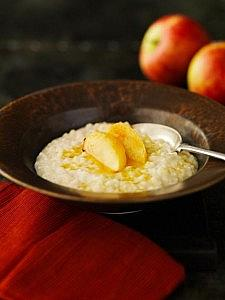 Apple Rice Pudding with Roasted Apples & Toffee Sauce