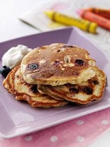 Banana-Blueberry American-style Pancakes